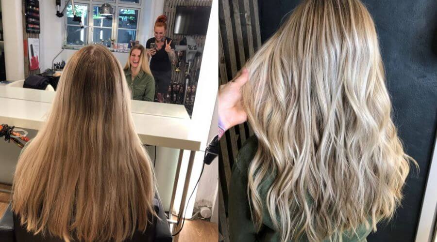 How to cut hair straight long