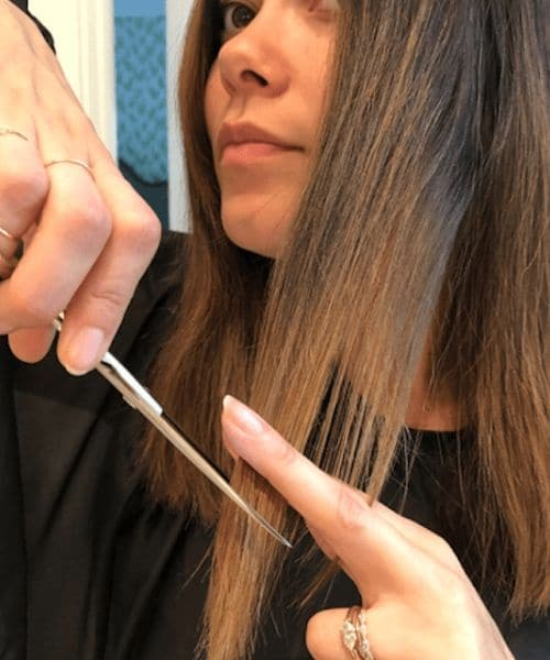 How to cut your own hair in long layers