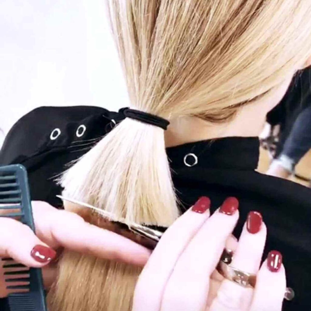 how to cut a bob at home